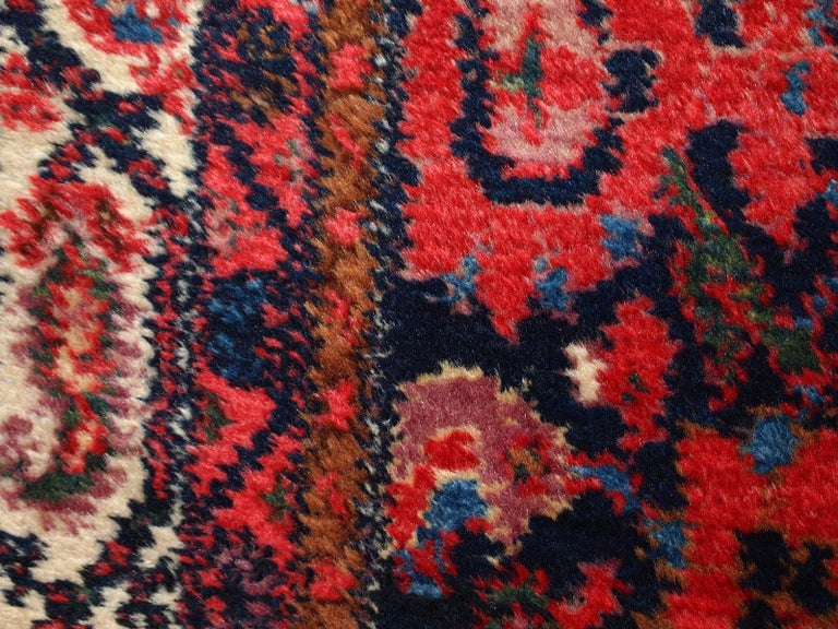 Handmade Vintage Malayer Style Runner, 1920s, 1C323 For Sale 5