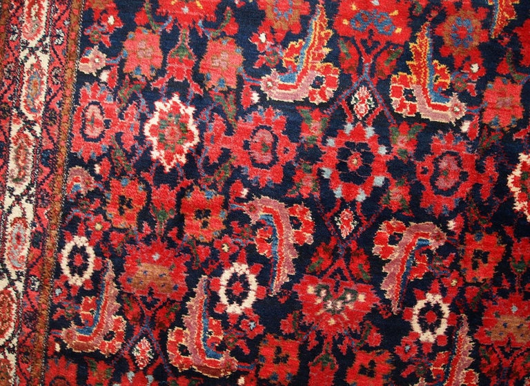 Handmade Vintage Malayer Style Runner, 1920s, 1C323 For Sale 6