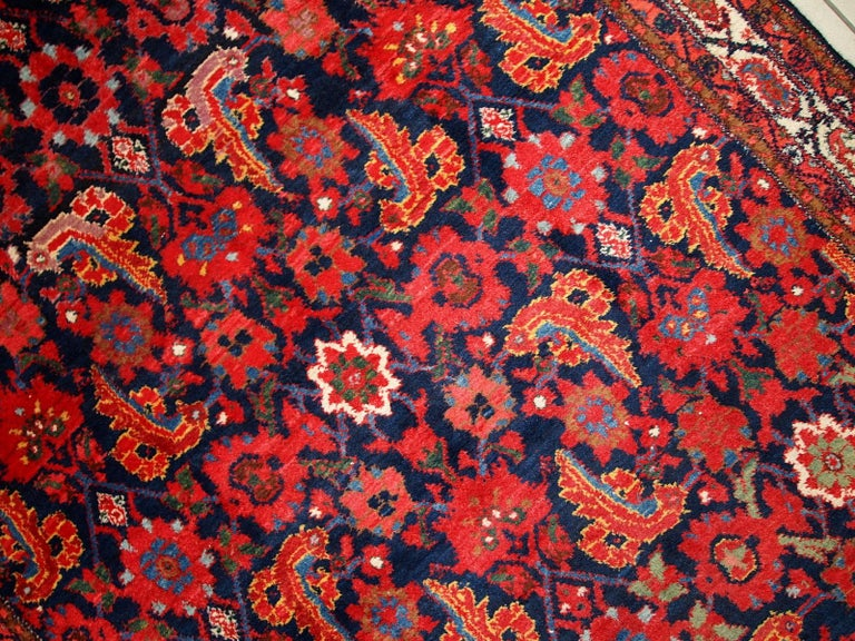 Handmade Vintage Malayer Style Runner, 1920s, 1C323 For Sale 7
