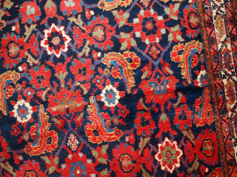 Handmade Vintage Malayer Style Runner, 1920s, 1C323 For Sale 8