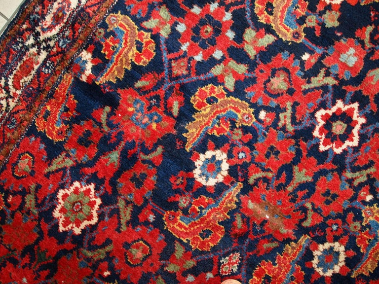 Handmade Vintage Malayer Style Runner, 1920s, 1C323 For Sale 9