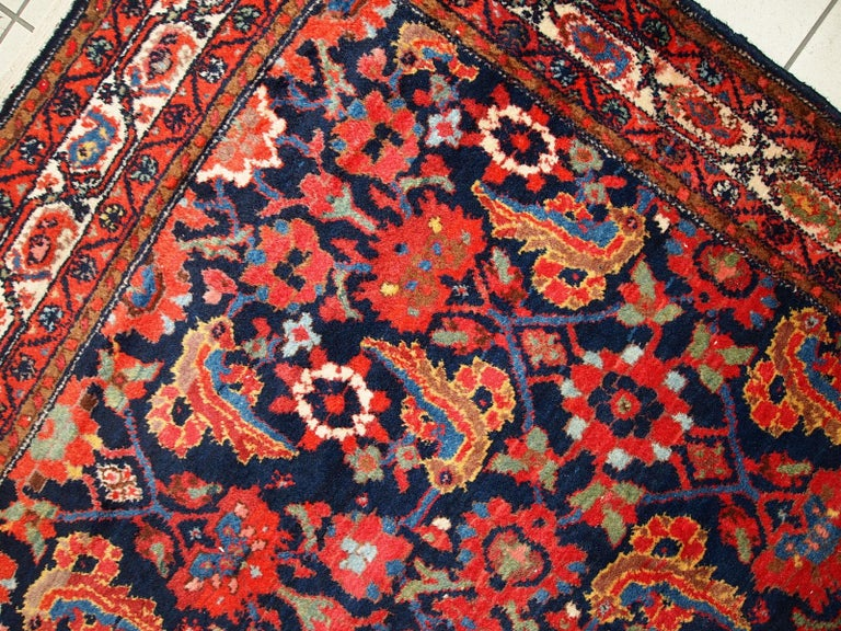 Handmade Vintage Malayer Style Runner, 1920s, 1C323 For Sale 10