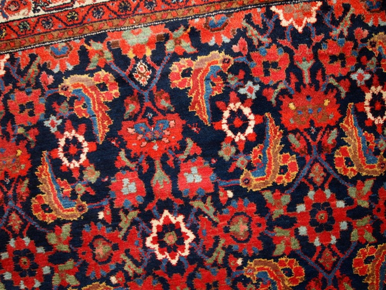 Handmade Vintage Malayer Style Runner, 1920s, 1C323 For Sale 11