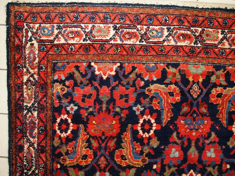 Handmade Vintage Malayer Style Runner, 1920s, 1C323 For Sale 12