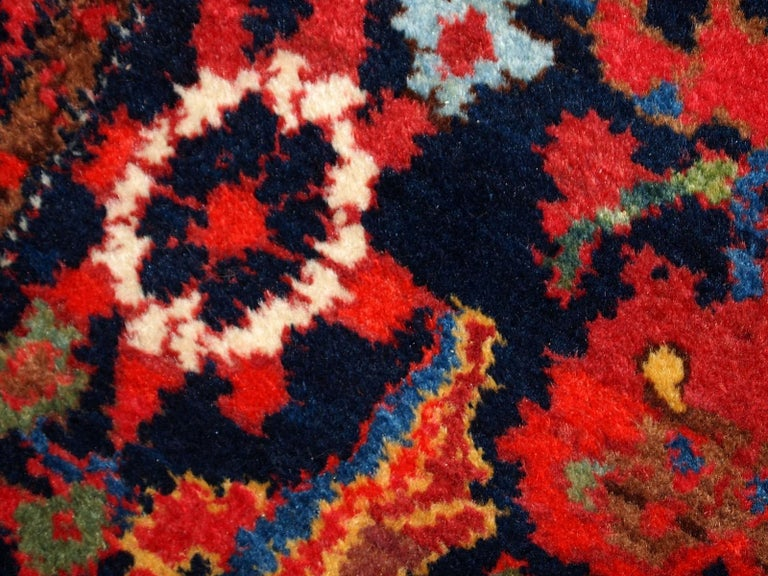 Hand-Knotted Handmade Vintage Malayer Style Runner, 1920s, 1C323 For Sale