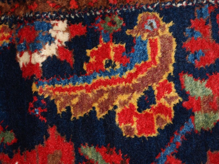 Handmade Vintage Malayer Style Runner, 1920s, 1C323 In Good Condition For Sale In Bordeaux, FR