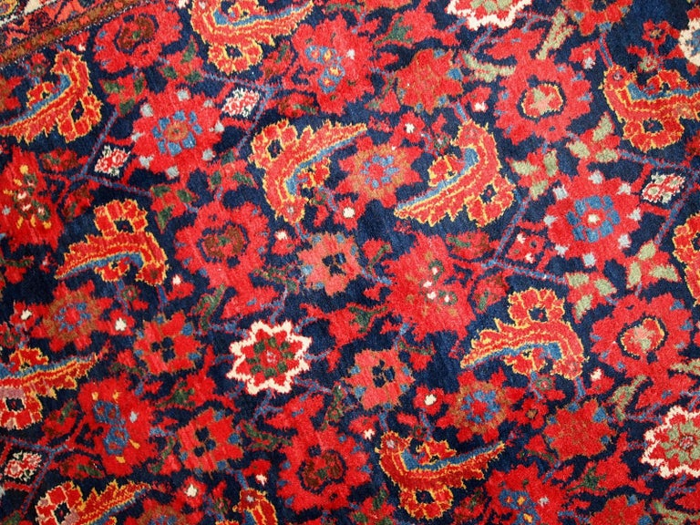 Early 20th Century Handmade Vintage Malayer Style Runner, 1920s, 1C323 For Sale