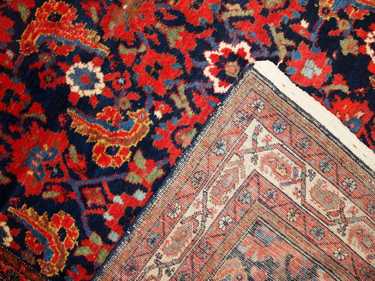 Wool Handmade Vintage Malayer Style Runner, 1920s, 1C323 For Sale