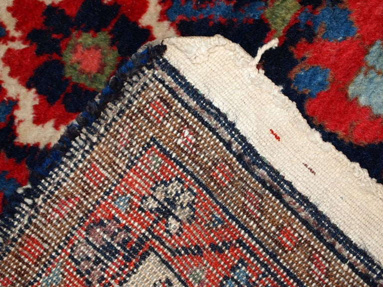 Handmade Vintage Malayer Style Runner, 1920s, 1C323 For Sale 2