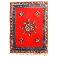 Handmade Vintage Moroccan Berber Rug, 1970s, 1C657