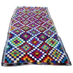 Handmade Vintage Moroccan Berber Rug, 1970s, 1Q0009