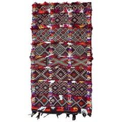 Handmade Vintage Moroccan Kilim Cushion, 1950s, 1P28