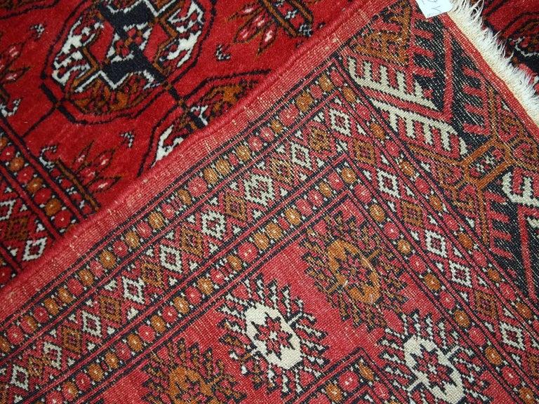 Handmade Vintage Pakistani Tekke Rug 1960s For Sale At