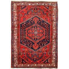 Handmade Vintage Persian Hamadan Rug, 1960s
