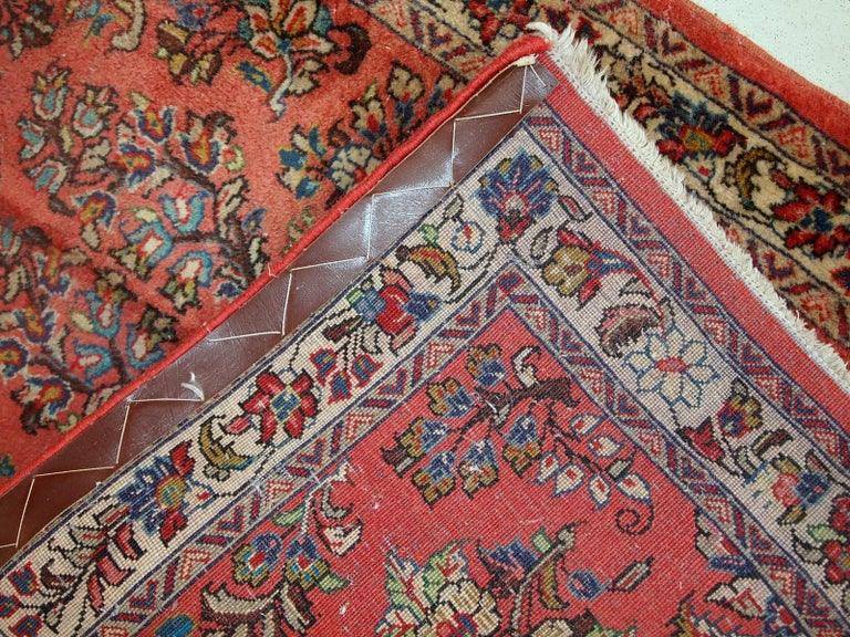 Wool Handmade Vintage Sarouk Style Runner, 1970s, 1C691 For Sale