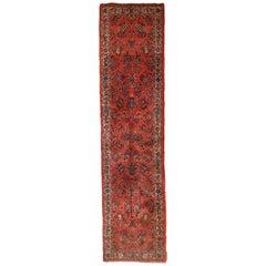 Handmade Vintage Sarouk Style Runner, 1970s, 1C691