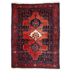 Handmade Vintage Senneh Style Rug, 1960s, 1C679