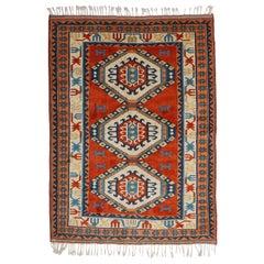 Handmade Vintage Turkish Kars Kazak Rug, 1980s, 1N09