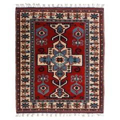 Handmade Vintage Turkish Kars Kazak Rug, 1980s, 1N10