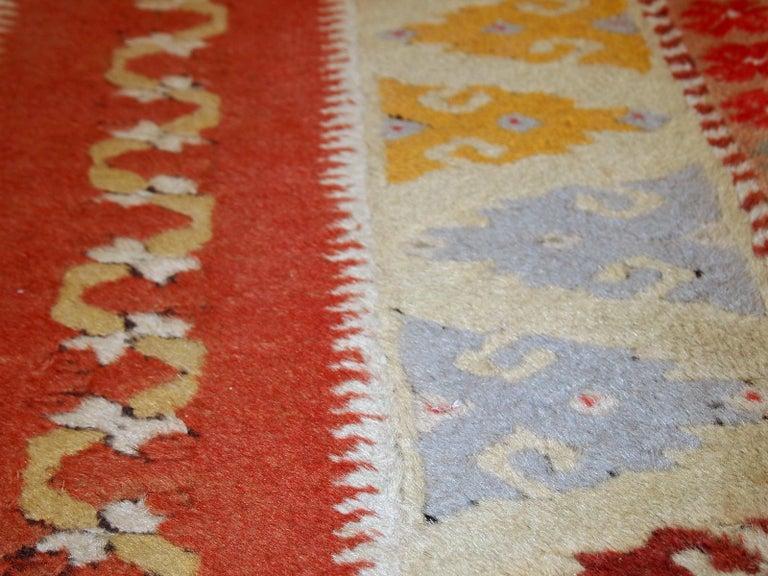 Handmade vintage Turkish Melas runner made in wool. The rug is from midcentury, in original good condition.  - Condition: Original good,  - circa 1950s,  - Size: 2.5' x 9' (76cm x 267cm),  - Material: Wool,  - Country of origin: