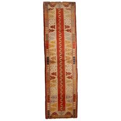 Handmade Vintage Turkish Melas Runner, 1950s, 1C689