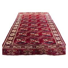 Handmade Vintage Turkmen Tekke Rug, 1960s, 1Q0144