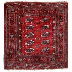 Handmade Vintage Turkmen Tekke Rug, 1970s, 1C631