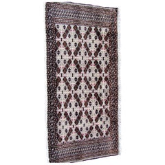 Handmade Vintage Turkmen Tekke Rug, 1970s, 1Q0050