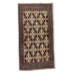 Handmade Vintage Turkmen Tekke Rug, 1970s, 1Q0145