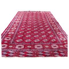 Handmade Vintage Turkmen Tekke Rug, 1970s, 1Q0160