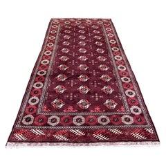 Handmade Vintage Turkmen Tekke Rug, 1970s, 1Q0189