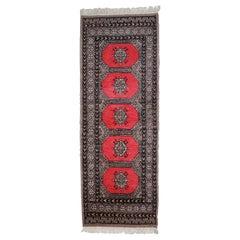 Handmade Vintage Uzbek Bukhara Rug, 1960s, 1С712