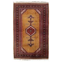 Handmade Vintage Uzbek Bukhara Rug, 1960s, 1С715