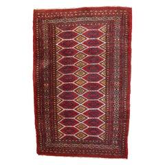 Handmade Vintage Uzbek Bukhara Rug, 1960s, 1С726