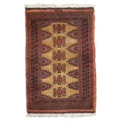 Handmade Vintage Uzbek Bukhara Rug, 1960s, 1С734