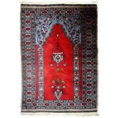 Handmade Vintage Uzbek Bukhara Rug, 1970s, 1C626