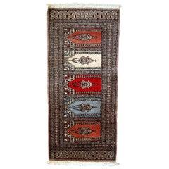 Handmade Vintage Uzbek Bukhara Rug, 1970s, 1C641