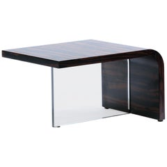 Handmade Vladimir Kagan Lucite and Macassar Ebony Table
