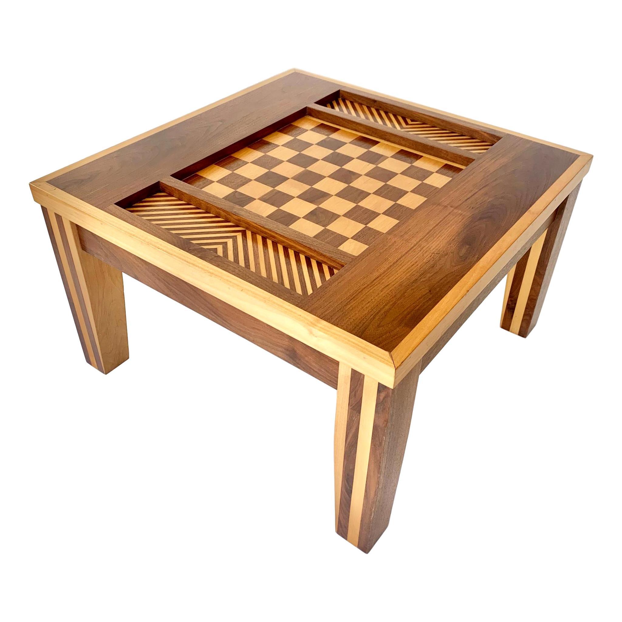 Handmade Walnut Chess Table