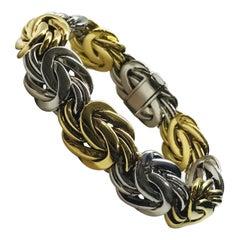 Handmade White Gold Yellow Gold Bracelet