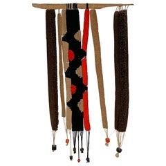 Handmade Woven Wall Hanging Textile Art, circa 1960s