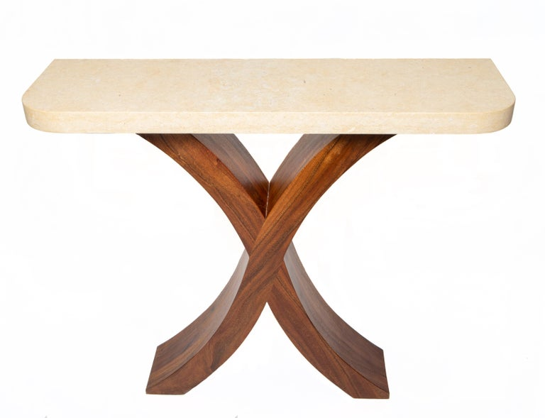American Handmade Xavier Console Table For Sale
