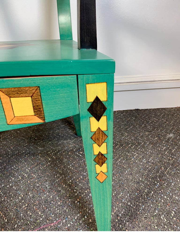 Other Hand Painted Chair Designed by Katherine Stevens For Sale