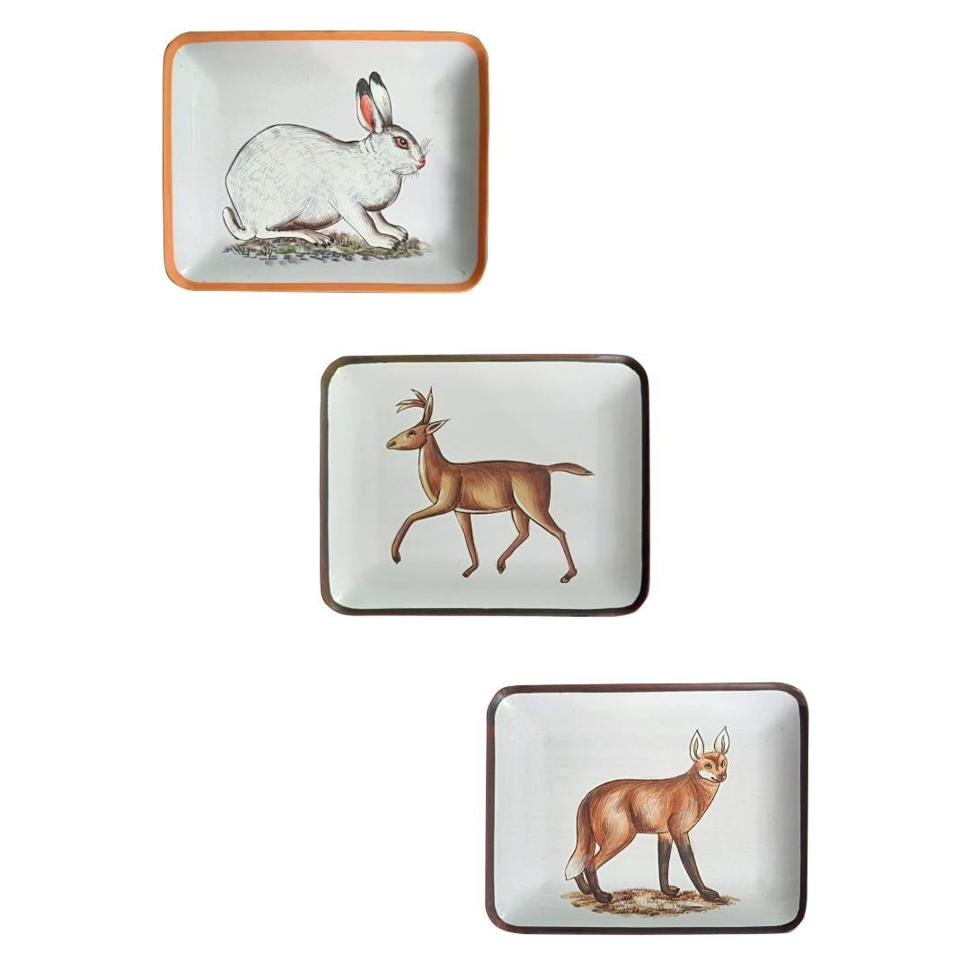 Handpaited Vide-Poches 'pin tray' Set of 3