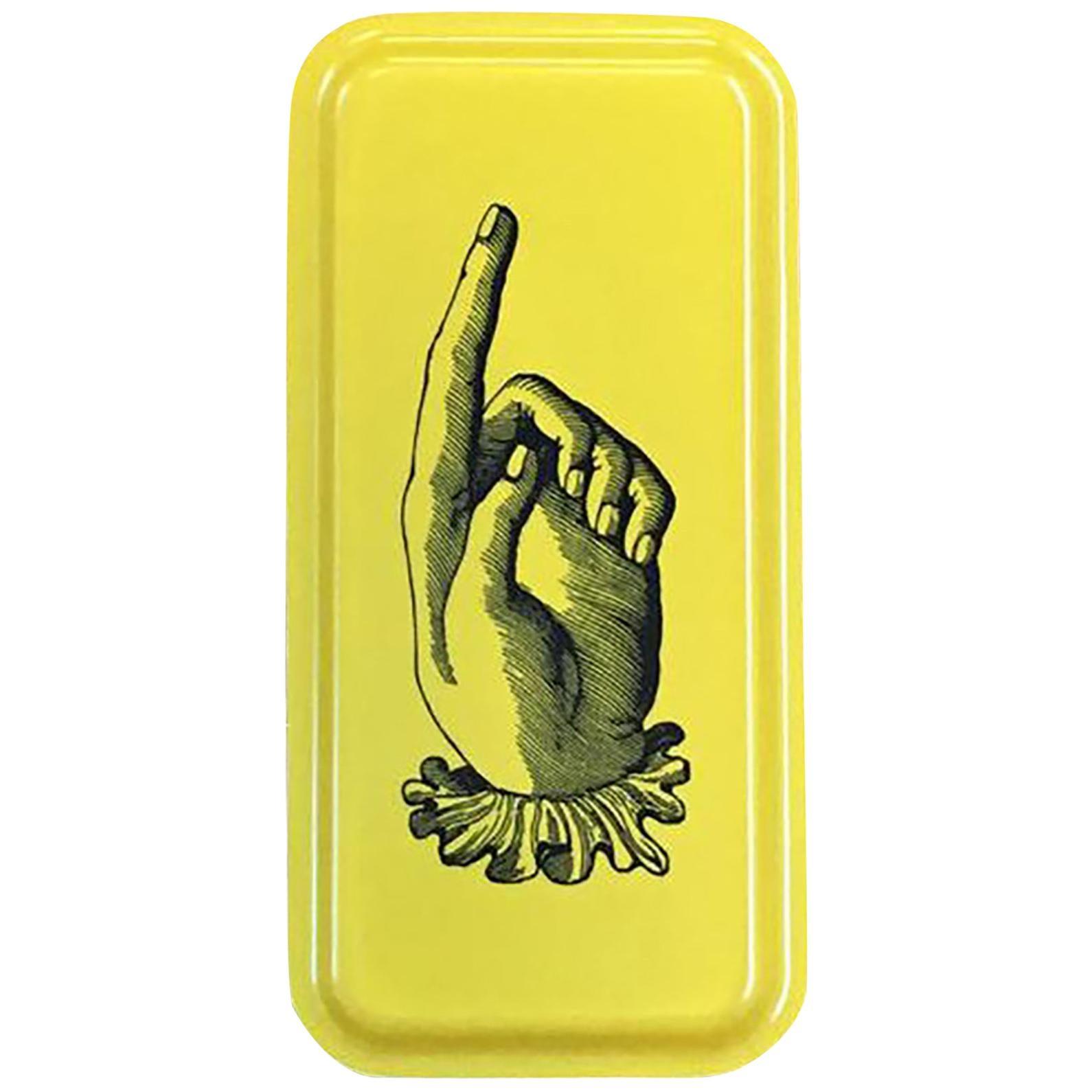 Hands Birchwood Serving Tray Yellow