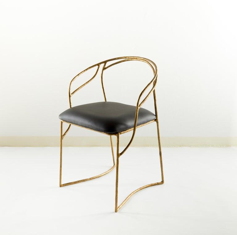 Post-Modern Handsculpted Brass Chair, Masaya For Sale