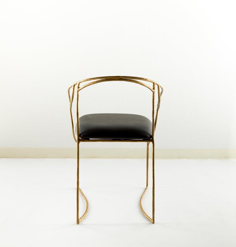 Thai Handsculpted Brass Chair, Masaya For Sale