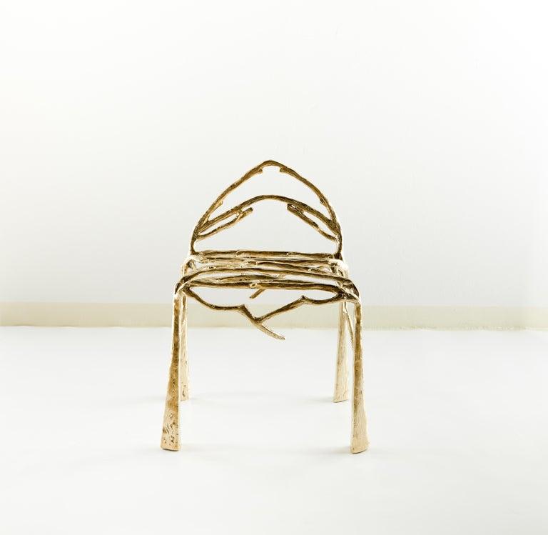 Post-Modern Handsculpted Brass Chair, Twigy, Masaya For Sale