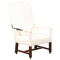 Handsome 18th Century Italian Reclining Armchair with New Upholstery