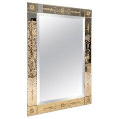 Handsome 1940s French Venetian Mirror